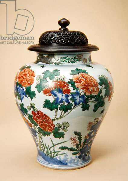Vase, c.1650 (porcelain with wooden cover)