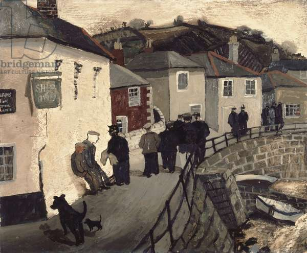 Ship Inn, Mousehole, 1930 (oil on board)