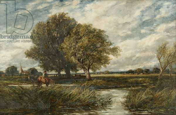 Watering Horses, 1893 (oil on canvas)
