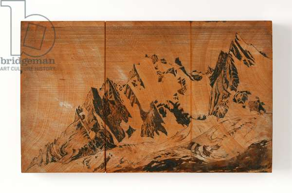 Aiguille Du Midi, France (pen & ink and w/c on wood)