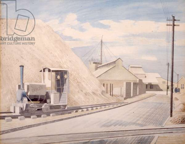 Cement Works, 1934 (w/c on paper)