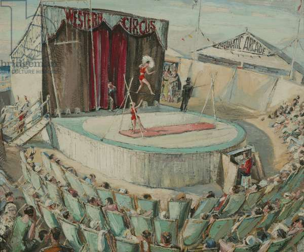 Seaside Circus, 1934 (oil on canvas)