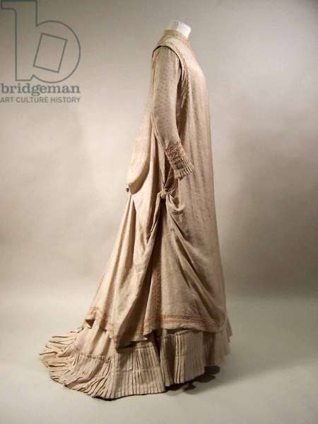 Dress, 1879-80 (silk, cotton and wool)