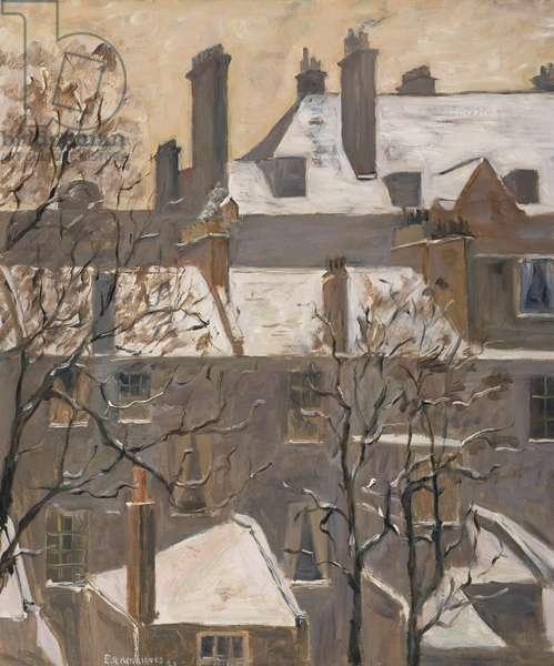 February, 1929 (oil on canvas)