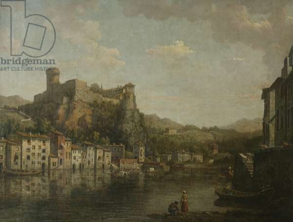 View in Lyons (oil on canvas)