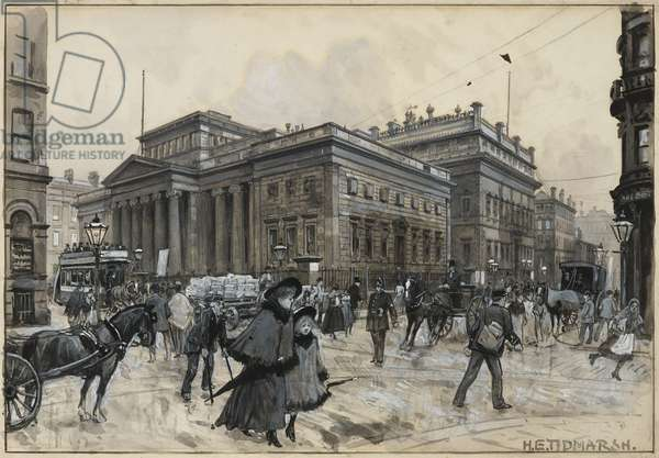 The Art Gallery, Mosley Street, and the Atheneum, 1893-94 (w/c gouache, chalk, pencil on paper)