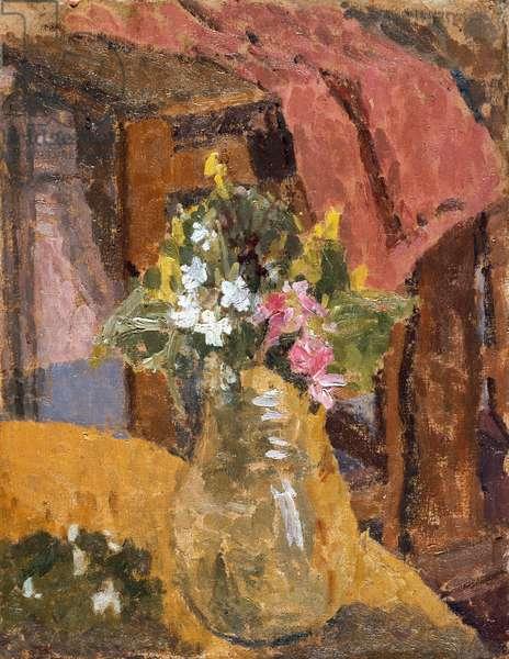 Flowers (oil on canvas)