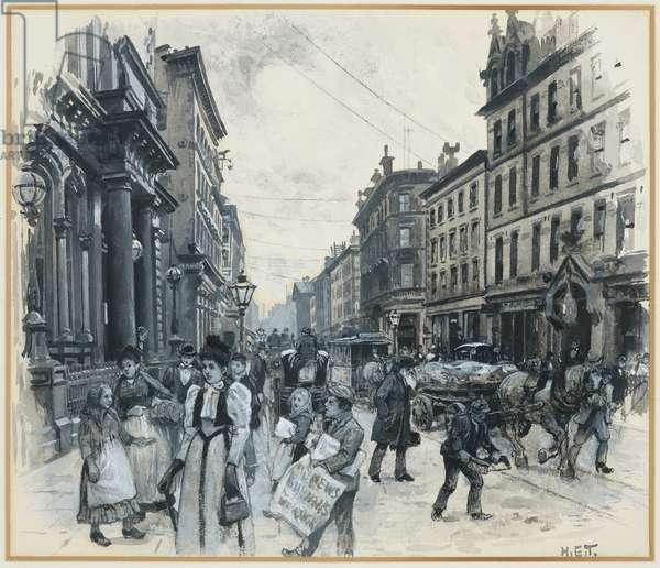 Corporation Street, 1893-94 (w/c gouache on paper)