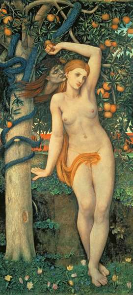 Eve Tempted, c.1877 (tempera on panel)
