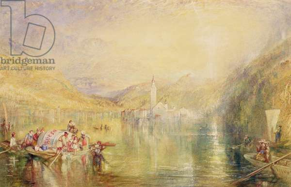Kussnacht, Lake of Lucerne, Switzerland, 1843 (w/c & bodycolour on paper)