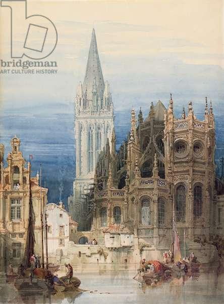 St. Pierre, Caen, 1830 (w/c on paper)