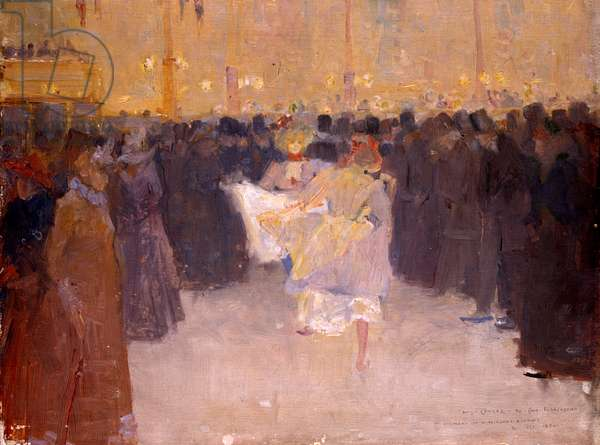 The Moulin Rouge, 1890 (oil on panel)