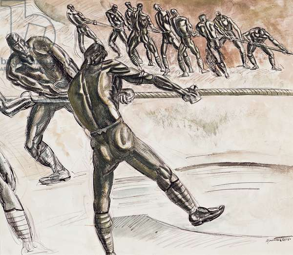 Drag Ropes, 1918 (pencil, pen & ink and w/c on paper)