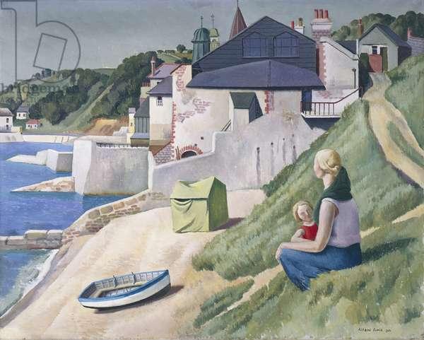 Lyme Regis, 1930 (oil on canvas)