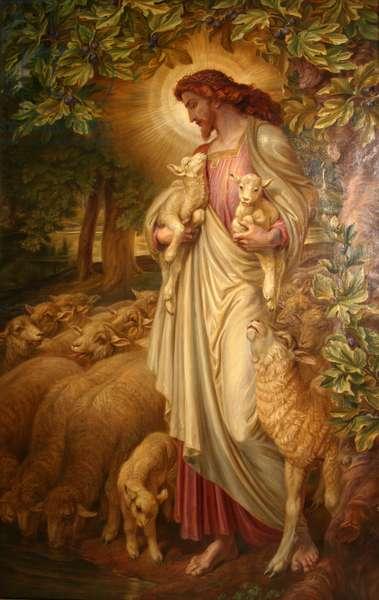 The Good Shepherd (oil on canvas)