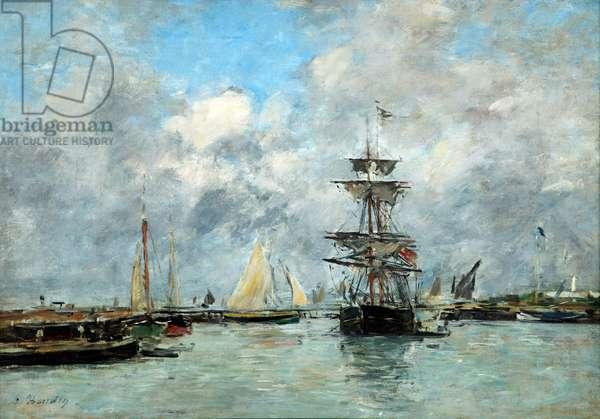 Trouville Harbour (oil on canvas)