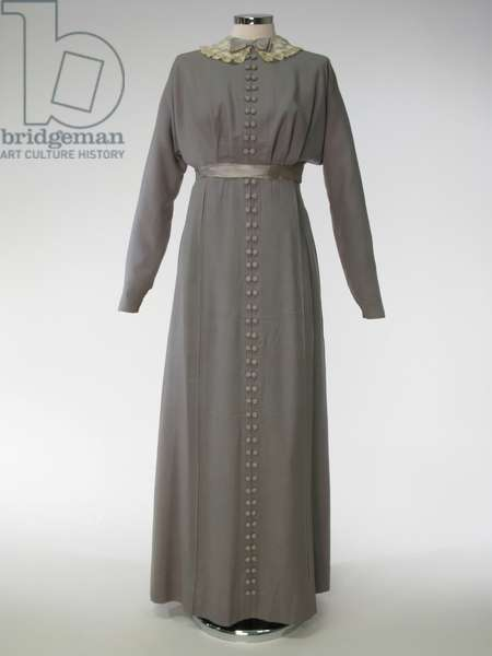 Dress, 1910-14 (serge, silk & wool)