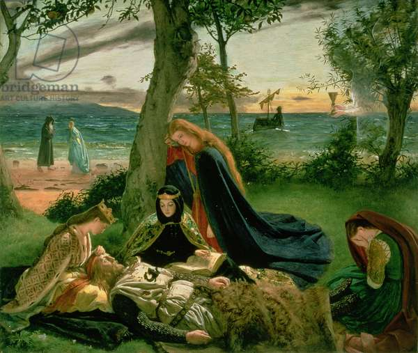 Le Morte d'Arthur, 1860 (oil on millboard)