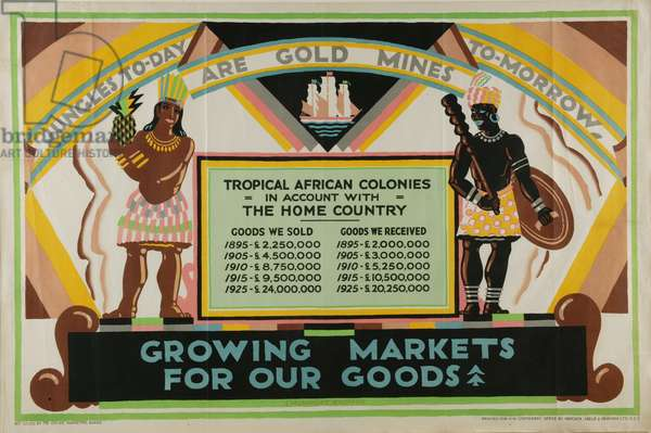 Growing Markets For Our Goods, 1927 (ink on paper)