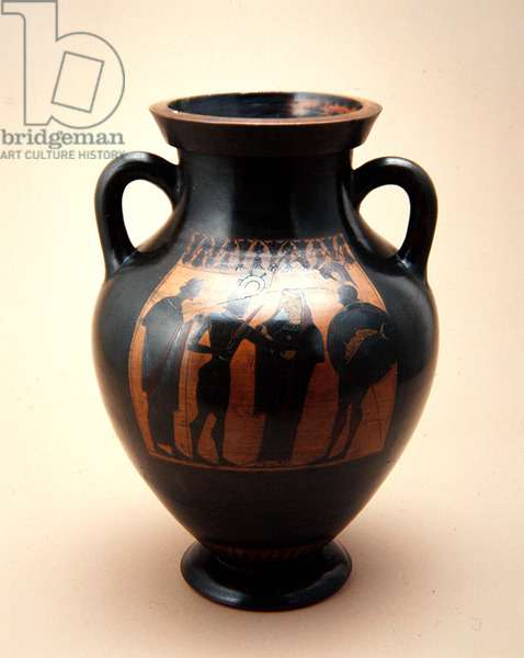 Amphora, c.500 BC (red earthenware with black slip)