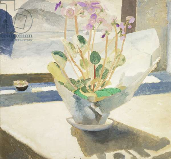 Primulas, 1921-22 (oil on hardboard)