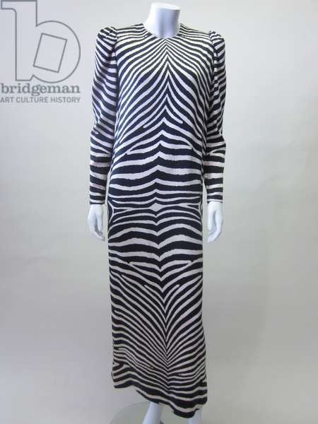 Zebra Print Evening Dress, 1980 (silk)