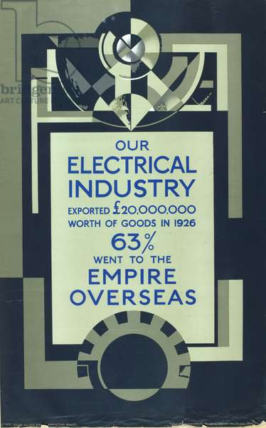 Our electrical industry, from the series 'Empire Building Makes Busy Factories' [6319406] (colour litho)
