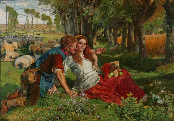 The Hireling Shepherd, 1851 (oil on canvas)