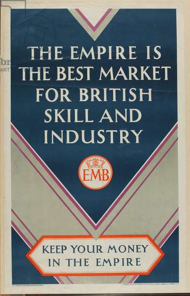 Keep Your Money in the Empire, from the series 'Where Our Exports Go', c.1927 (colour litho)
