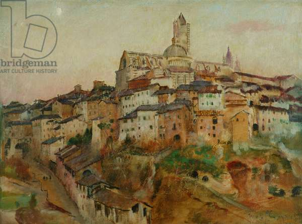 The Town of Siena (oil on canvas)