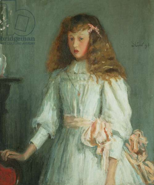 A Young Girl in a White Dress, 1892 (oil on canvas)