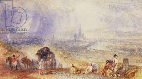 A Distant View, Rouen, c.1834 (w/c on paper)