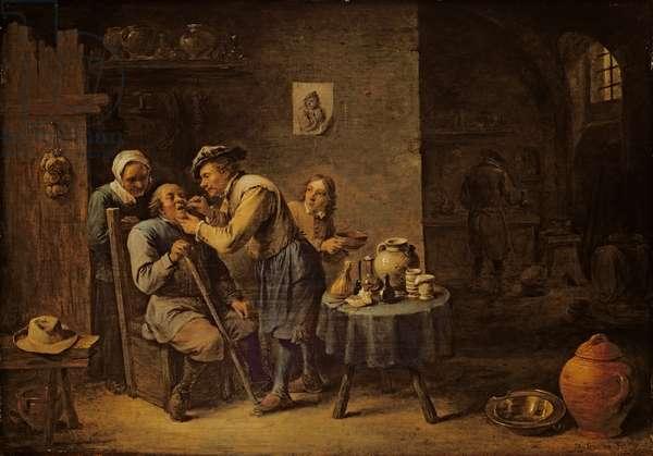 The Dentist, 1652 (oil on panel)