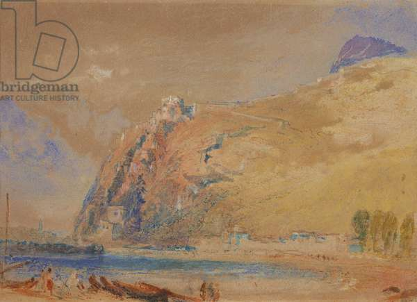 The Bastille at Grenoble from the Valley of the Isere, c.1836 (w/c on paper)