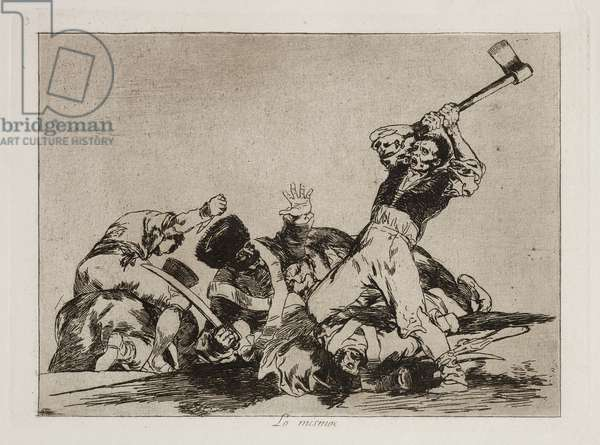 Lo Mismo (The Same), 1863 (etching, drypoint, burnishing & burin)