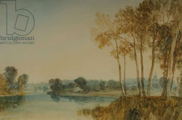 Landscape with trees by the River Thames, c.1805 (w/c on paper)