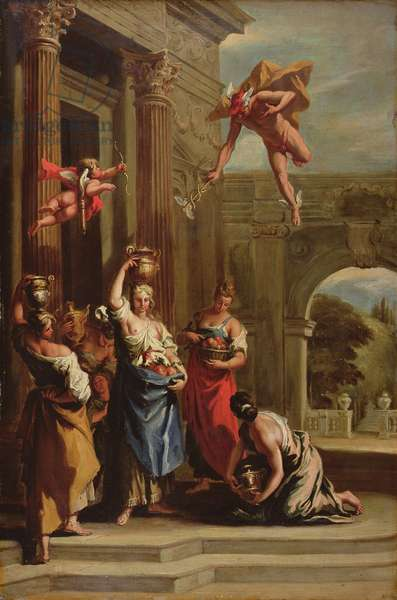 Mercury, Herse and Aglauros (oil on canvas)