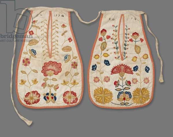Pair of Pockets, 1720-40 (linen)