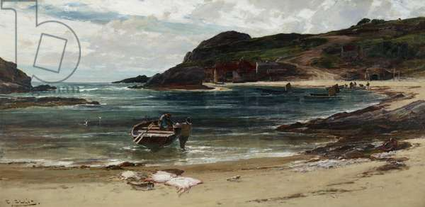 The Haven under the Hill (Anglesey), 1885-95 (oil on canvas)