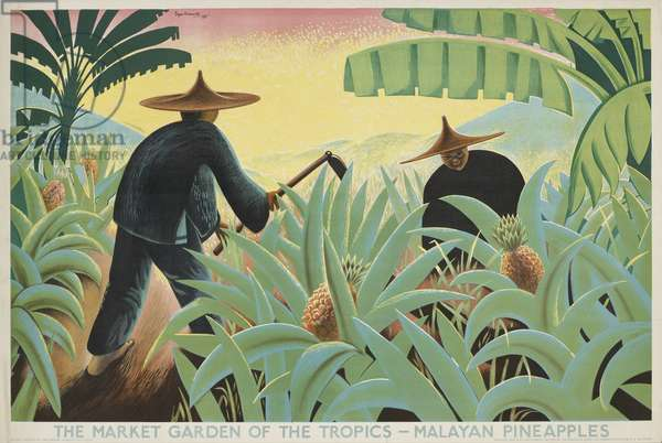 The Market Garden of the Tropics - Malayan Pineapples, from the series 'Buy from the Empire's Gardens', 1931 [6319383] (colour litho)