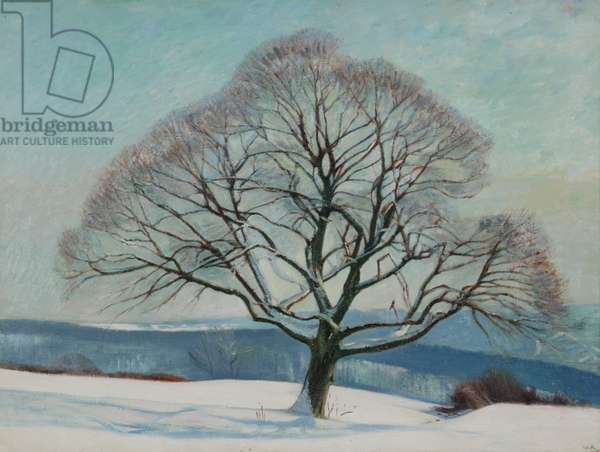 Tree in Winter, 1916 (oil on canvas)