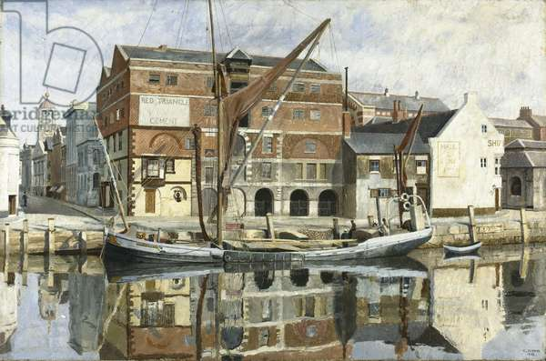 The Blue Barge, 1934 (oil on canvas)