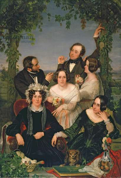 Family Group (The Bromley Family) 1844 (oil on canvas)