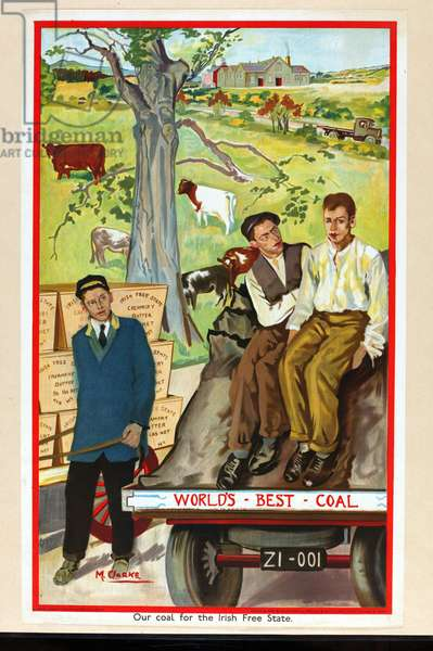 Our Coal for the Irish Free State, 1930 (colour litho)