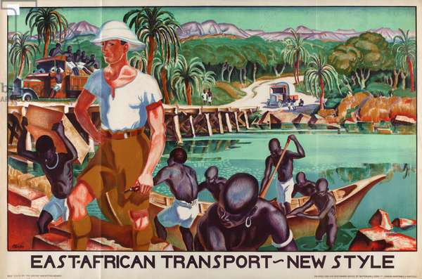 East African transport - new style, c.1926-39 (colour litho)
