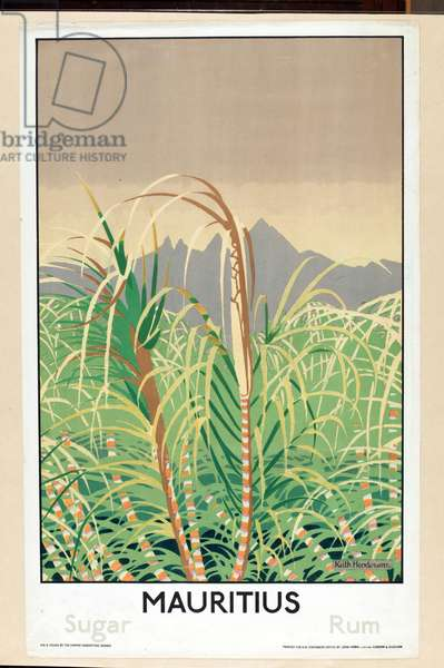 Mauritius - Sugar, Rum, from the series 'Some Empire Islands' (colour litho)
