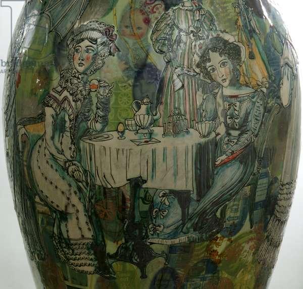 Jane Austen in E17, 2009 (transfer-printed ceramic) (detail)