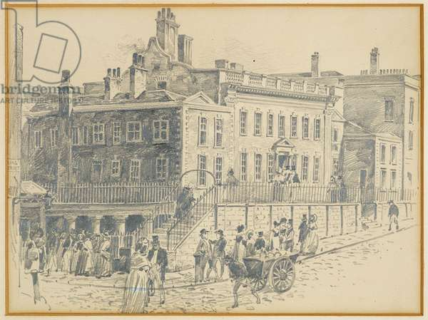 Dr. White's House, King Street (from a print by Ralston), 1893-94 (pencil on paper)