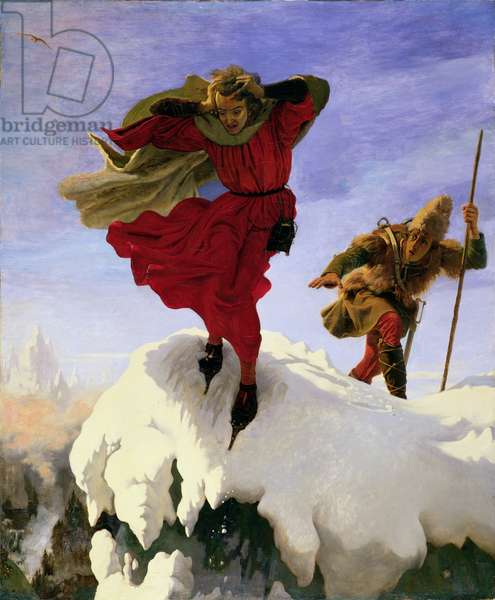 Manfred on the Jungfrau, 1840-61 (oil on canvas)
