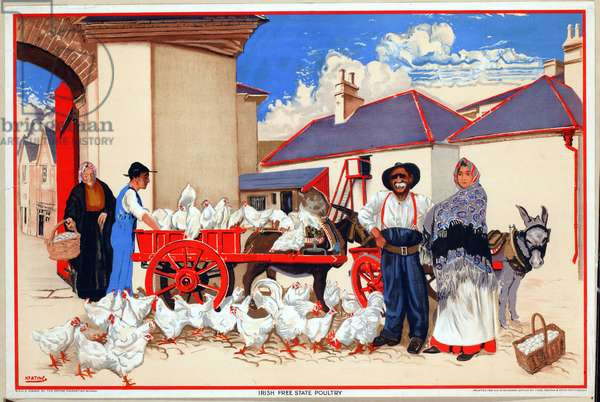 Irish Free State Poultry (colour litho)
